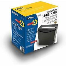 Royal JS55 Strip Cut 6-Sheet Home Office Paper Shredder with Wastebasket