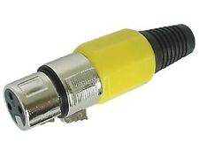 Velleman Ca100Y 3-Pin Xlr Jack, Nickel-Plated - Yellow