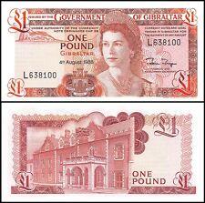 Gibraltar 1 Pound, 1988, P-20e, UNC, Queen Elizabeth II (QEII)