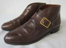 Vintage ETIENNE AIGNER Brazilian Brown LEATHER Chukka Buckle Ankle BOOTS 6.5 M