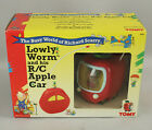 1995 Tomy Busy World of Richard Scarry Lowly Worm and his R/C Apple Car NIB New!