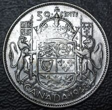 OLD CANADIAN COIN 1948 KEY DATE - 50 CENTS - .800 SILVER - George VI - Nice