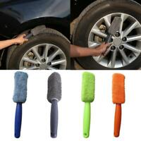 Microfiber Wheel Tire Rim Scrub Brush Car Truck Motorcycle Washing Cleaning Blue