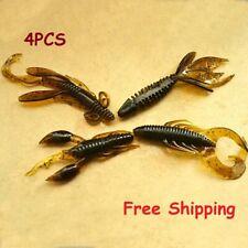 4PCS Fishing Bait Hooks Shrimp Crankbaits Lure Artificial Silicone Fish Swivels