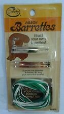 Goody Braid Your Own Ribbon Hair Barrettes Vintage 80s Stay Tight Spring Clasp