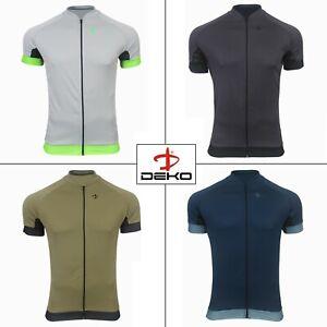 Deko Cycling Jersey Men's Full Zip Half Sleeve Summer Anti Slip Shirt High Top