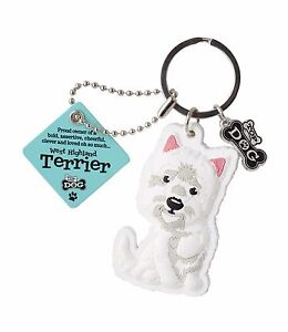 Westie Keyring Gift/Present Dog Key Ring Bag Charm West Highland Terrier