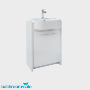 Openspace 500 Trio Semi-Inset Bathroom Basin Unit Only - Gloss White | RRP: £250