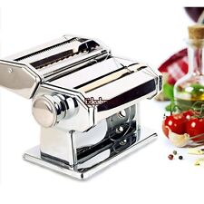"""Manual 7"""" Pasta Maker Dough Making Fresh Noodle Roller Machine Stainless Steel"""