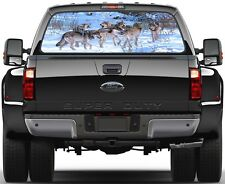 6 Wolves in Winter  Rear Window Graphic Decal Sticker Truck SUV Van Car