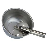 Livestock Stainless Steel Pig Drinker Waterer Water Bowl Automatic Tool Middle