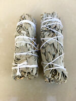 "White Sage Smudge Stick | 4"" to 5"" Wands House Cleansing Negativity  (2 Pack)"