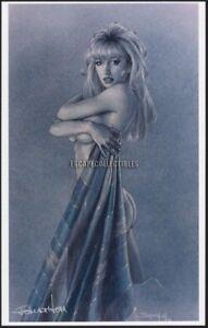 Blue Navajo Blanket Signed Print Jonathon Earl Bowser