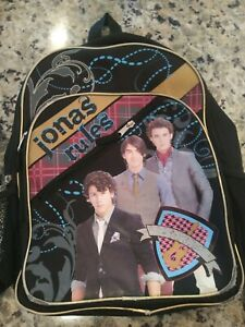"Jonas Brothers Backpack 12""x16""x5.5"" ""Jonas Rules"" Disney"
