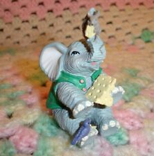 Luckyphants. Elephant holding Cheese & Mouse - #1070 - Unique!