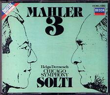 Sir Gerog Solti: MAHLER SYMPHONY NO. 3 Helga Dernesch Decca 1985 2cd Chicago così
