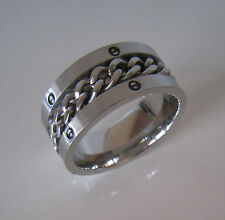SUPERNOVA SCARVES Stainless Steel Chain Scarf Ring Indie Mod Scooter Retro
