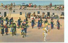 INDIAN-PUEBLO INDIAN CORN DANCE CEREMONY-LINEN-(INDIAN-15)