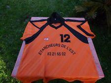 maillot de foot vintage Kodokan Etancheurs de l'Est orange T 6/7 du L