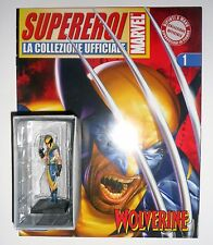 Statua Wolverine +Fascicolo Eaglemoss Statue Marvel Comics Supereroi X-MEN Logan