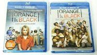 Orange is the New Black Season One + Season Two 1 2 Blu-Ray Lot Brand New Sealed