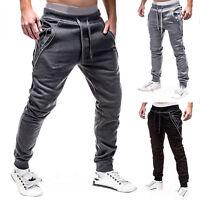 Men Jogger Gym Sport Pants Tracksuit Bottom Slim Fit Workout Trousers Sweatpants
