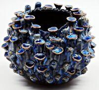 Small Pottery Vase Nautical Handmade Ceramic Porcelain Stoneware Decorative