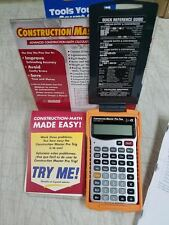 DISPLAY MODEL CALCULATED INDUSTRIES MASTER PRO CONSTRUCTION PROJECT CALCULATOR