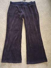 Fashion Bug Velour Sweat Pants  Size Large Black Cotton Blend Cute and Comfy