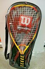 Wilson Scorch Racquetball Racquet Power Bridge 3 7/8 Grip 15% More Power w/ Case
