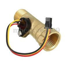 "G1/2"" Thread Hall Effect Water Flow Sensor Switch Flowmeter Meter 1.25-30L/min"