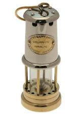 Working Welsh Miners Lamp (Nickel Plate & Brass) - Medium 58n - Made in Wales
