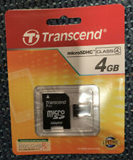 Transcend 4GB Micro SD Card w/adapter For SD