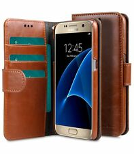 Melkco Mini Leather Case for Samsung Galaxy S7-Wallet Book Type (Brown PU) H1730