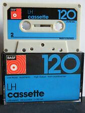 BASF LH  C 120 Low Noise  Compact Cassette 1974-1975 Audio-Cassette Tape MC 2*