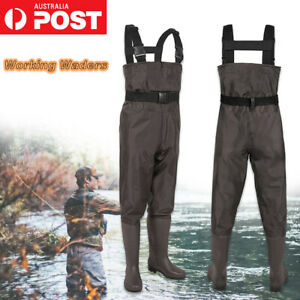 Bootfoot Chest Wader 2-Ply Nylon PVC Waterproof Fishing Hunting Waders with Boot