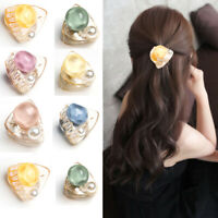Cute Women Girls Candy Color Pearls Mini Hair Claw Crab Korean Hairpin Crab Clip