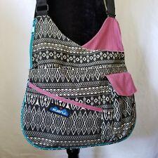 Kavu Rope Crossbody Bag Purse Satchel Black Turquoise Pink White Pockets Large