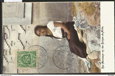 J) 1908 Mexico, Mexican Type Fortress In The Ruins Of Mitla, Woman, 2 Cents Gree