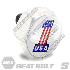 Polished Hex Billet Aluminum Seat To Fender Bolt for Harley USA NUMBER 1 ONE