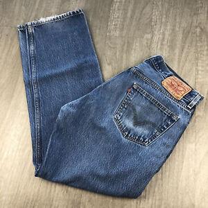 Vintage Levis 501 Jeans Mens Size 36 x 34 Denim 100% Cotton Button Fly Straight