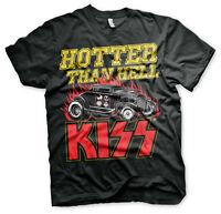 KISS Hotter Than Hell Hot Rod Rock Band Musik Tour Männer Men T-Shirt Schwarz