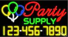 "NEW ""PARTY SUPPLY"" w/YOUR PHONE NUMBER 37x20 NEON SIGN W/CUSTOM OPTIONS 15090"