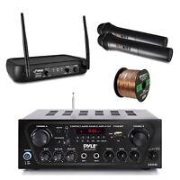 Wireless Bluetooth Receiver, Microphone System, Speaker Wire - PA, Karaoke, DJ