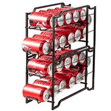 2 Pack Soda Can Stackable Beverage Dispenser Rack Organizer For Refrigerator