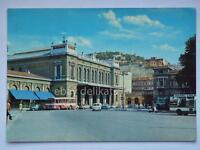 TRIESTE Stazione autobus bus Vespa vecchia cartolina