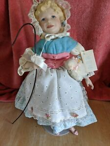 "Vintage 14"" Little Bo Peep Knowles Ashton Drake Porcelain Doll By Yolanda Bello"