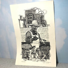 TEX WILSON COWBOY PRINT ARTIST SIGNED LIMITED EDITION /400 WESTERN TRAIL COOKING