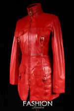UNICORNO Londra da donna corto aderente Fashion 100/% REAL LEATHER JACKET-ROSSO #gj