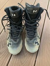 Under Armour Highlight Boy's Football Cleats Size 5.5 Y Black & White